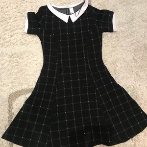 Cute mini flare collared dress